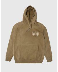 Deus Ex Machina - Brown Sunbleached Milan Hooded Sweatshirt for Men - Lyst