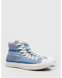 Converse - Blue Chuck Taylor Hi Crafted Textile - Lyst