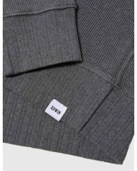 Edwin - Gray Long Sleeve Waffle Knit T-shirt for Men - Lyst