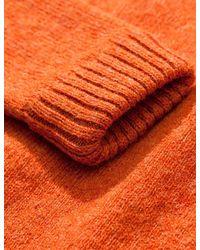 Norse Projects - Orange Birnir Shetland Jumper for Men - Lyst
