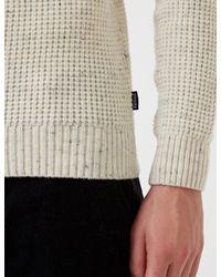 Barbour - Gray Blade Knit Jumper for Men - Lyst