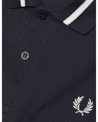 Fred Perry - Blue Single Tipped Polo Shirt for Men - Lyst