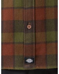 Dickies - Green Cooperstown Checked Shirt for Men - Lyst