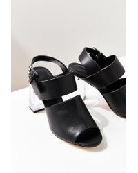 Urban Outfitters - Black Buckled Lucite Heel - Lyst