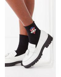 Urban Outfitters - Black Jeweled Crew Socks - Lyst