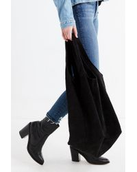 Urban Outfitters - Black Slouchy Suede Shopper Tote Bag - Lyst