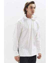 Urban Outfitters - White Uo Tie Split Hooded Long Sleeve Tee for Men - Lyst