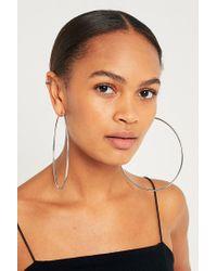 Urban Outfitters - Metallic Oversized Hoop Earrings - Lyst