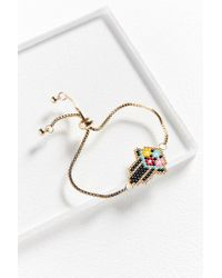 Urban Outfitters - Black Seed Beaded Bracelet - Lyst