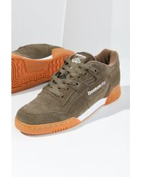detailed look 008de 533ed Women s Green Reebok Workout Plus Eg Sneaker