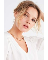 Urban Outfitters - Metallic Structured Collar Necklace - Lyst