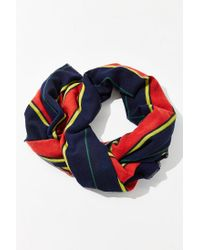 Urban Outfitters - Blue Brushed Woven Blanket Scarf - Lyst