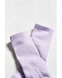 Urban Outfitters - Purple Solid Sport Sock for Men - Lyst