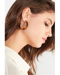 Urban Outfitters - Brown Lyla Tortoise Hoop Earrings - Lyst