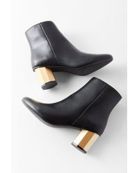 Urban Outfitters - Black Geometric Heel Ankle Boot - Lyst