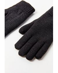 Urban Outfitters - Black Glitter Plush Lined Glove - Lyst