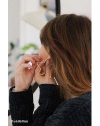 Urban Outfitters - Metallic Geometric Hoop Earring - Lyst