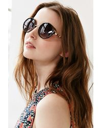 Urban Outfitters | Black Both Worlds Round Sunglasses | Lyst