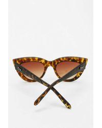 Quay   Brown Kittie Cat-eye Sunglasses   Lyst