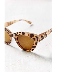 Quay - Brown Kittie Cat-eye Sunglasses - Lyst