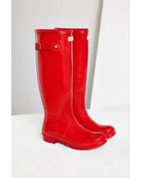 HUNTER | Red Original Gloss Rain Boot | Lyst