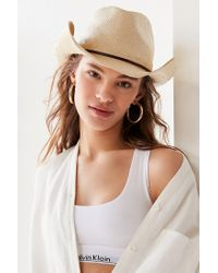 Urban Outfitters - Multicolor Straw Cowboy Hat - Lyst