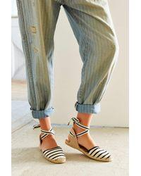 Soludos | Black Classic Canvas Stripe Espadrille Sandal | Lyst