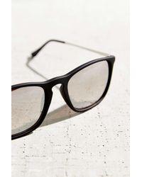 Urban Outfitters - Black Boyfriend Slim Square Sunglasses - Lyst