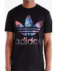 Adidas Originals - Black Originals Galaxy Trefoil Tee for Men - Lyst