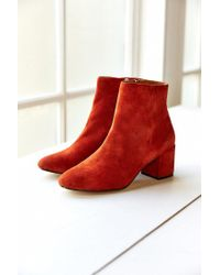 Urban Outfitters | Brown Thelma Suede Ankle Boot | Lyst
