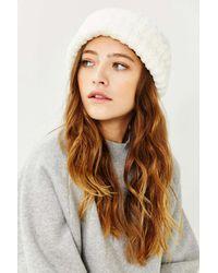 Urban Outfitters | White Chenille Rib Beanie | Lyst