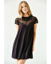 Kimchi Blue - Black Lily Embellished Trapeze Dress - Lyst