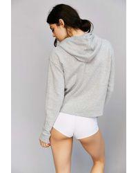 Calvin Klein - Gray Modern Cotton-Blend Hooded Sweatshirt - Lyst