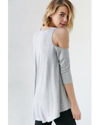 Kimchi Blue | Gray Tyra Cold Shoulder Tunic Top | Lyst