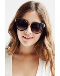 Urban Outfitters | Black Vip Cat-eye Sunglasses | Lyst