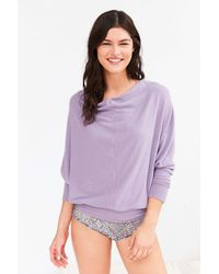 Project Social T | Multicolor Seamed Slouchy Pullover Sweatshirt | Lyst