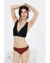 Out From Under - Black Ayden Scallop Triangle Bra - Lyst