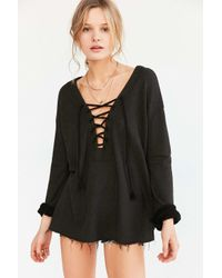 Truly Madly Deeply   Black Lakeside Pullover Top   Lyst