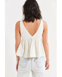 Urban Outfitters - White Uo Susie Poplin Babydoll Tank Top - Lyst