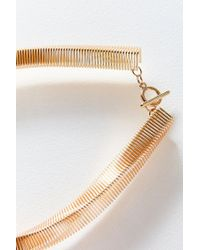 Urban Outfitters - Metallic Accordion Statement Necklace - Lyst