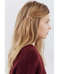 Urban Outfitters | Metallic Safety Pin Bobby Pin Set | Lyst