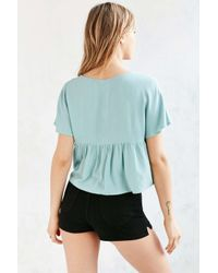 Kimchi Blue Blue Knot-front Babydoll Tee