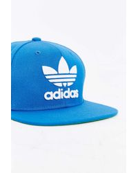 Adidas Originals - Blue Originals Trefoil Snapback Hat for Men - Lyst