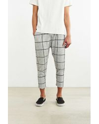 Timberland | White Fionn Windowpane Cropped Knit Pant for Men | Lyst