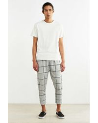 Timberland - White Fionn Windowpane Cropped Knit Pant for Men - Lyst