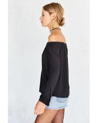 Ecote | Black Cooper Off-the-shoulder Top | Lyst