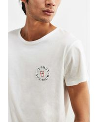 Thinking Mu - White Embroidered Division Tee for Men - Lyst