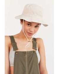 b69697bc730 Lyst - Urban Outfitters Washed Canvas Fishing Bucket Hat in Natural