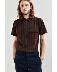 Brixton - Multicolor Roland Stripe Short-sleeve Button-down Shirt for Men - Lyst
