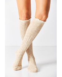 Urban Outfitters - Blue Crochet Cuff Knee-high Sock - Lyst
